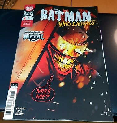 The Batman Who Laughs #1 Jock cover NM.