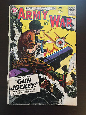 OUR ARMY AT WAR #82 DC Comics May 1959 Sgt. Rock First Appearance Very Good