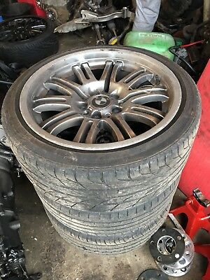 """GENUINE BMW E46 M3 18"""" STYLE 67 ALLOY WHEEL SET WITH TYRES Drift Track staggered"""
