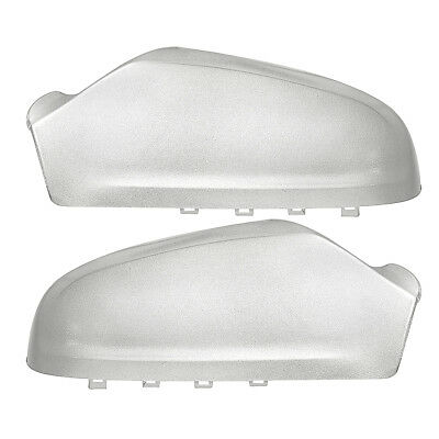 Left & Right Door Wing Mirror Covers Painted Silver For Vauxhall Astra H 05-2009