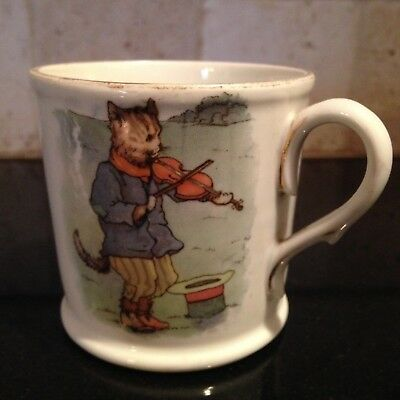 "ANTIQUE BAVARIA ""RM"" ""Hey Diddle Diddle"" Youth Mug GERMAN Child Cup"