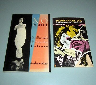 2 Books NO RESPECT INTELLECTUALS POPULAR CULTURE Psychedelic Hippies Media Music