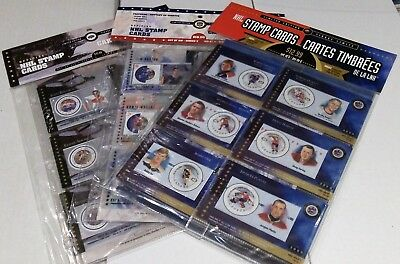 2000 & 2001 & 2002 Canada Post Nhl Stamp Cards - Blow Out Sale 50%