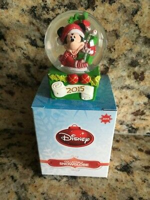 2015 Disney JC Penney Mickey Mouse Snow Globe *BRAND NEW IN BOX* Last Year