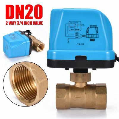 """Brass Ball Valve G3/4"""" 3/4 Inch Motorized Electrical Waterproof With LED light"""