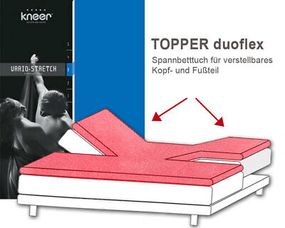 Topper Fitted Sheet 180x200 Joblot kneer Vario-Stretch Q22 Fitted Sheet