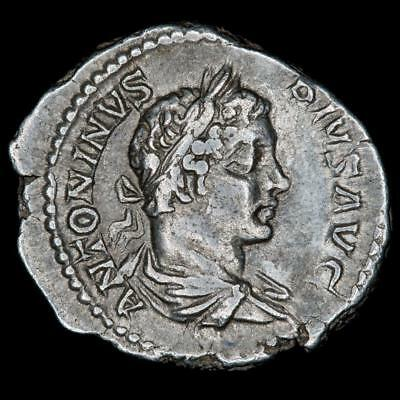 Rome - CARACALLA, as Augustus Jr (198-209 AD) AR Denarius, Mars