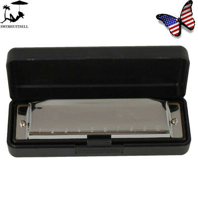 Metal Swan Diatonic Blues Harmonica 10 Holes C Key Harp Mouth Organ For Sale US