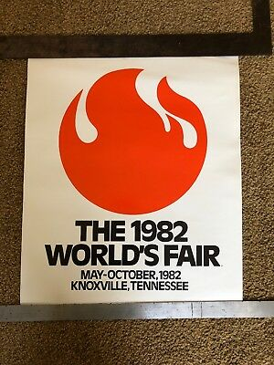1982 World's Fair Poster Knoxville Tennessee Flame Original