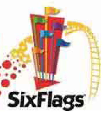 (4) FOUR 2018 US ANY Six Flags Theme Park E-Ticket Admission SIngle Day Passes