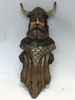 Vintage Hand Carved Wooden Man Wall Hanging Decor