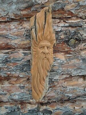 Wood Spirit Wizard Hobbit Troll  Cottonwood Bark Scott Longpre Originals