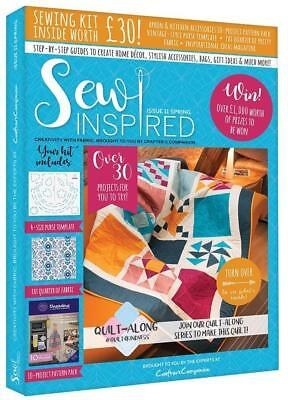 Sew Inspired Magazine Issue 11 With Free Sewing Kit Worth £30 Spring 2018