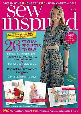 Sew Inspired Magazine Issue 6 With Free Sewing Patterns Worth £24 Winter 2016