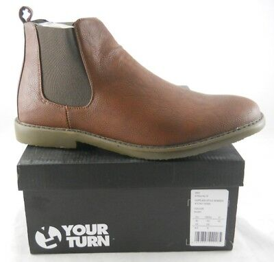 Mens Brown Chesea Boots Dealer Shoes Ankle Smart Casual Slip On UK Size 6.5-12.5