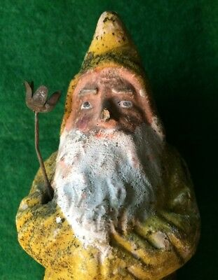 Vintage Antique German Paper Mache Belsnickle Santa circa 1910s