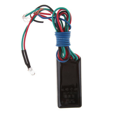 Motorcycle LED Anti-Hijacking Body Touch Lock Concealed Ignition Cut Off
