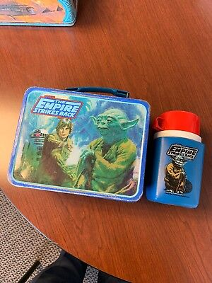 Vintage Star Wars Empire Strikes Back Thermos Lunchbox Complete 1980