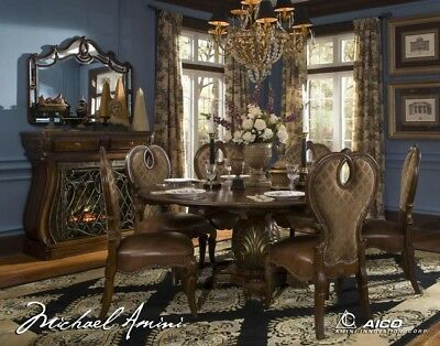 Aico By Michael Amini The Sovereign Round Dining Room Set