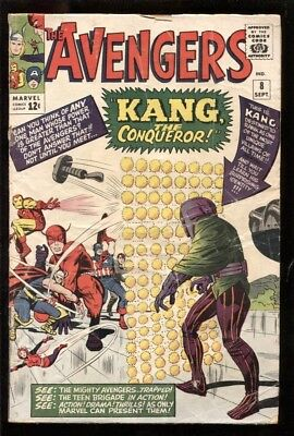 Avengers (1963) #8 2.0 Gd ~ 1St Appearance Of Kang (Dc)
