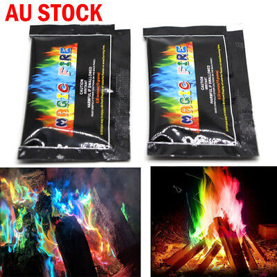 25g Mystical Magic Trick Fire Coloured Flames Bonfire Sachets Fireplace Colorful