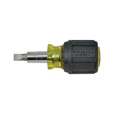 Klein Tools 32561 Stubby Screwdriver Nut Driver 6-in-1 Multi-Bit Tool