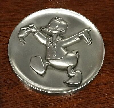 Kirk Collection Walt Disney The Magic Of Disney Pewter Donald Duck Coin - Medal