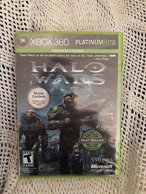 *** Brand New Xbox 360 Xbox360 Halo Wars Platinum Hits Game Sealed ***