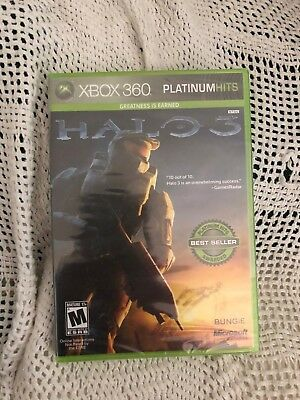 *** Brand New Xbox 360 Xbox360 Halo Iii 3 Platinum Hits Game Sealed ***