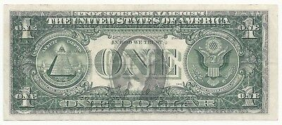 1974 $1 Federal Reserve Note  FULL OFFSET REVERSE