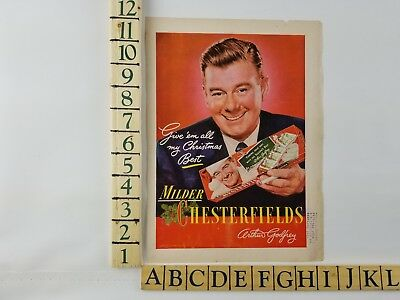 1949 Buy Chesterfield Cigarette Vintage Arthur Godfrey Original Print Ad