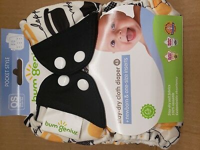 Bumgenius Cloth Diapers 4.0 Pocket Diaper Chaplin Brand New
