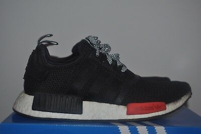 5016d99c0c8f7 ADIDAS NMD R1 Black Red Footlocker Exclusive Size UK8.5 US9 EU 42 2 ...