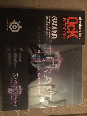 NIB SteelSeries QcK Gaming Mouse Pad STARCRAFT II HEART OF THE SWARM Limited Ed
