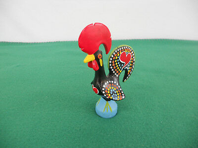 "Barcelos Rooster 5-3/4"" Traditional Figurine Ceramic, Hand Painted, Portugal"