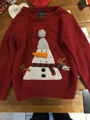 next snowman jumper with stick out nose 3-4 years