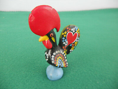 "Barcelos Rooster 4-1/2"" Traditional Figurine Ceramic, Hand Painted, Portugal"