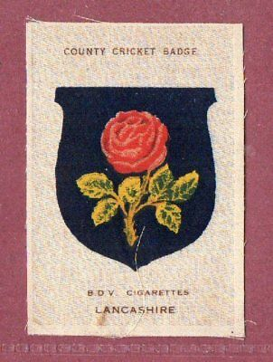 Silk cigarette cards 1921 County Cricket Club Badge Lancashire Red Rose #604