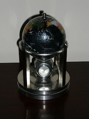 Small Gemstone Globe/ Clock/thermometer/hygrometer