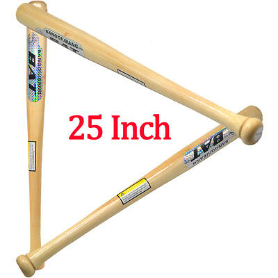Heavy Duty Wooden Baseball Rounders with or without Softball Bat size 25""