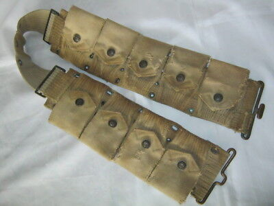 M1910 Mills Cavalry Dismounted Rimmed Eagle Snaps Cartridge Belt