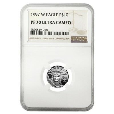 1997 W 1/10 oz $10 Platinum American Eagle Proof Coin NGC PF 70 UCAM