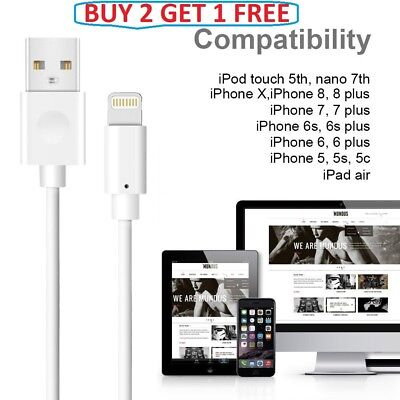 Fast Original Usb Charger  Cable for iPhone 8 and 8 Plus Buy 2 Get 1 Free!!!