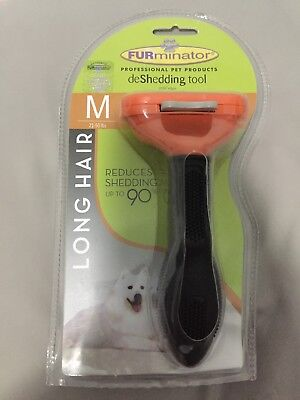 FURminator DeShedding Tool for Medium Dogs with LONG HAIR - M (21-50 lbs)