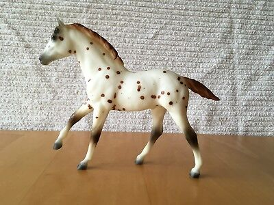 BREYER TRADITIONAL CHESTNUT LEOPARD ACTION STOCK HORSE FOAL No. 810 VGC 89-93