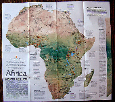Africa - Human Footprint/ Landscape  National Geographic Map / Poster July 2005