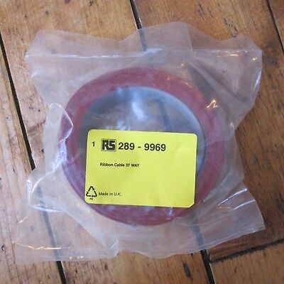 RS Pro 37 Way Unscreened Flat Rainbow Ribbon Cable 47 mm Wide Width 5m NEW
