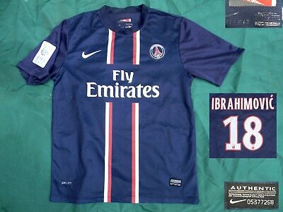 MAILLOT FOOTBALL PSG - 2012 2013 - IBRAHIMOVIC - taille M - Occasion ... 958dca7e5a7e