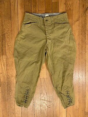 VTG 1930s BSA Jodhpurs Riding Breeches Boys String Laced Cotton
