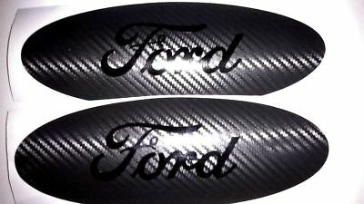 2018 2019 Ford F150 Emblem OVERLAY Oval DECAL Carbon Fiber BLACKOUT EDITION
